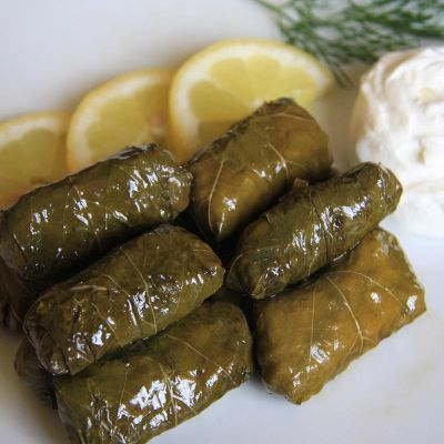 Dolmades (Stuffed Vine Leaves)