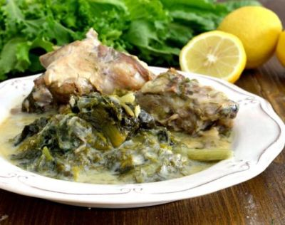 Corfu Recipes - Arnaki Fricassee - Lamb with Vegetables